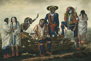 Deputation of Indians from the Mississippi Tribes to the Governor General of British North America, Sir George Prevost