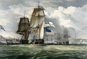 HMS Shannon Leading Her Prize the American Frigate Chesapeake into Halifax Harbour