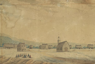 View of a Mohawk Indian Village