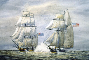 Capture of Snap Dragon by The Martin, 1813