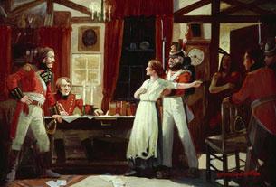Rencontre entre Laura Secord et le lieutenant Fitzgibbon, juin 1813