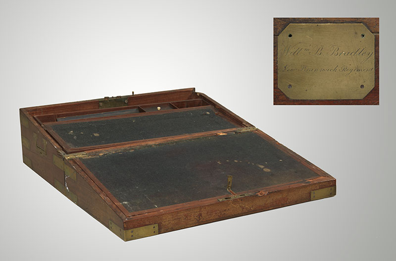 Captain William Bradley's Portable Writing Desk, 104th Regiment of Foot