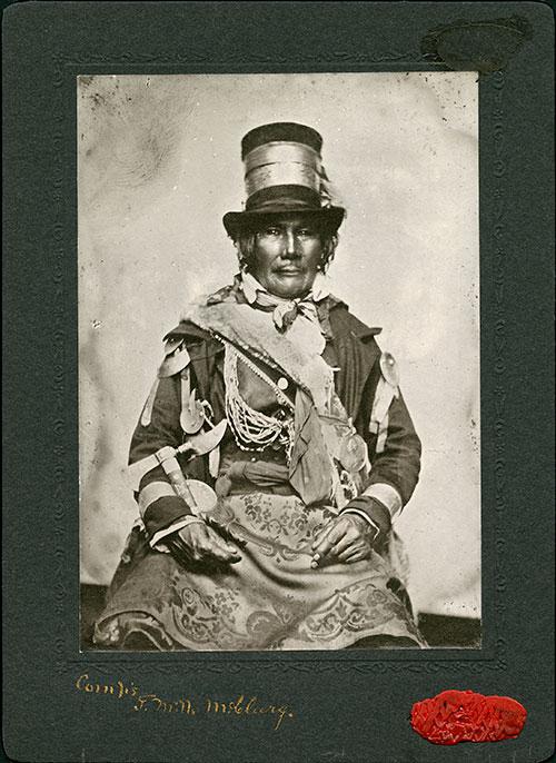 Chief Oshawana, around 1858