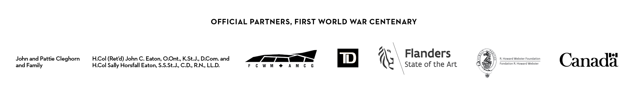 Offical Partners, First World War Centenary