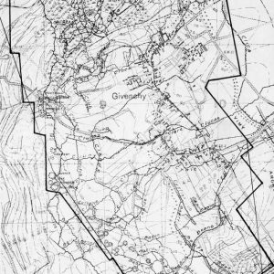 Map of Vimy Ridge - Portion of the 4th Canadian Division Front April 7th, 1917