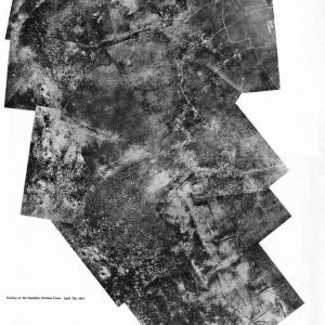 Aerial photo of Vimy Ridge - Portion of the 4th Canadian Division Front April 7th, 1917
