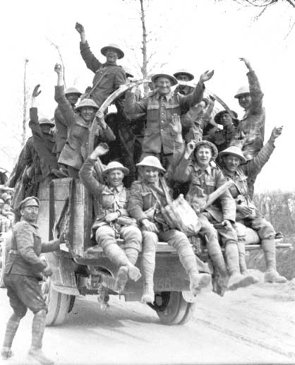 Canadians Returning from Vimy Ridge 1917, First World War