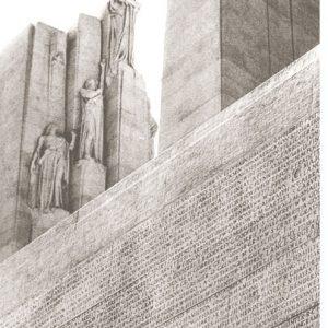 Closeup of the Vimy Memorial