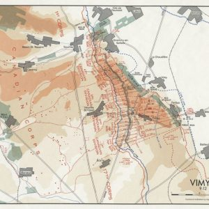 'Map 7 Vimy Ridge' Compiled and drawn by Historical Section G.S.