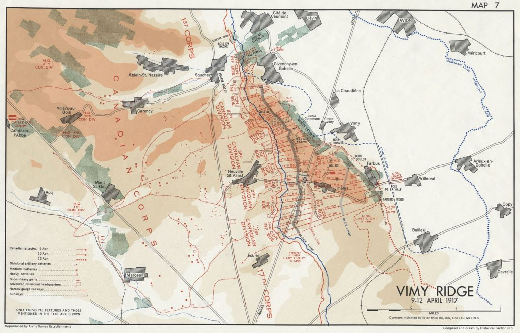 Vimy Ridge Maps The Battle Of Vimy Ridge Canadian War