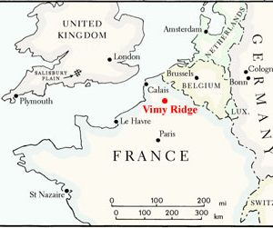 Map Of France During Ww1.Vimy Ridge Maps The Battle Of Vimy Ridge Canadian War Museum