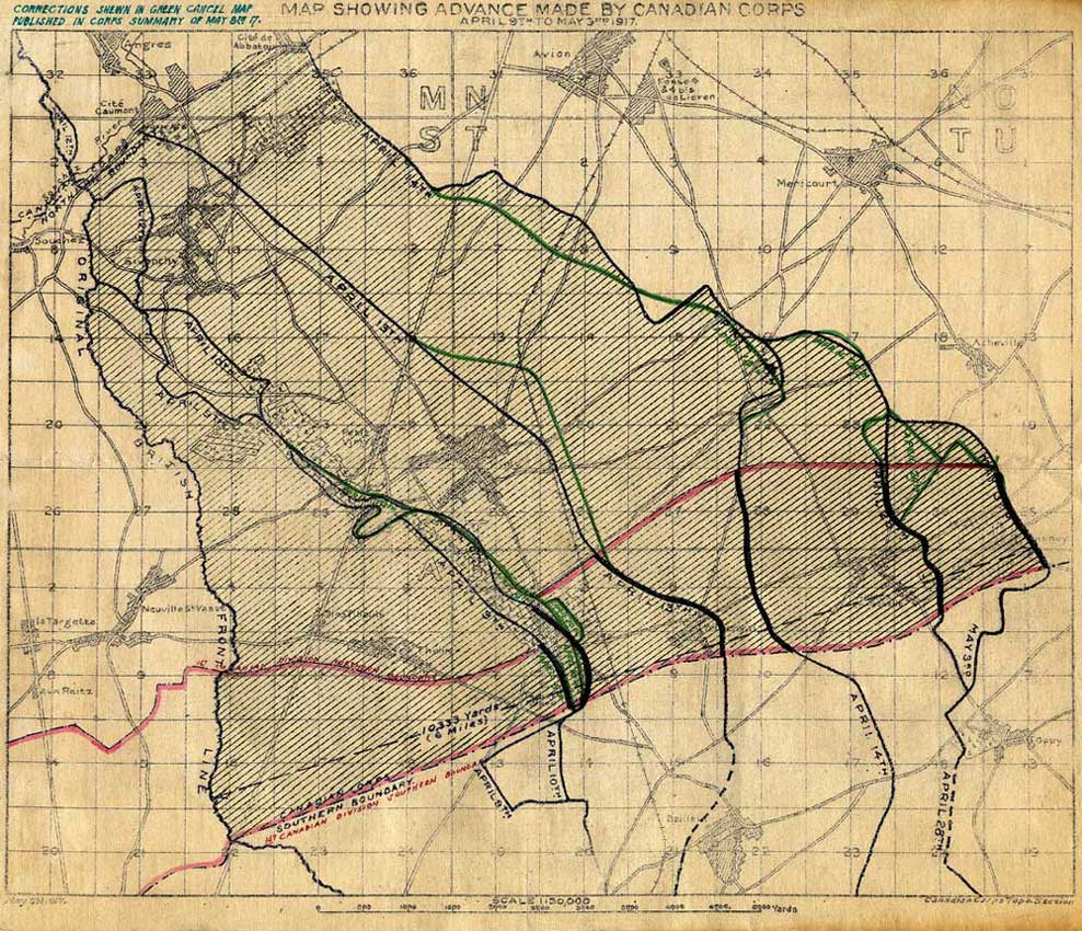 Vimy Ridge Map Vimy Ridge Maps | The Battle of Vimy Ridge | Canadian War Museum Vimy Ridge Map