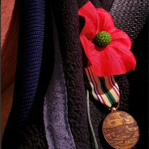 A poppy and a medal