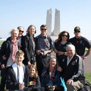 At the Vimy Memorial in France