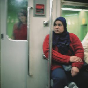 Woman on the metro