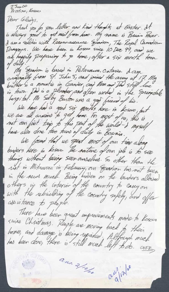 A handwritten two-page letter